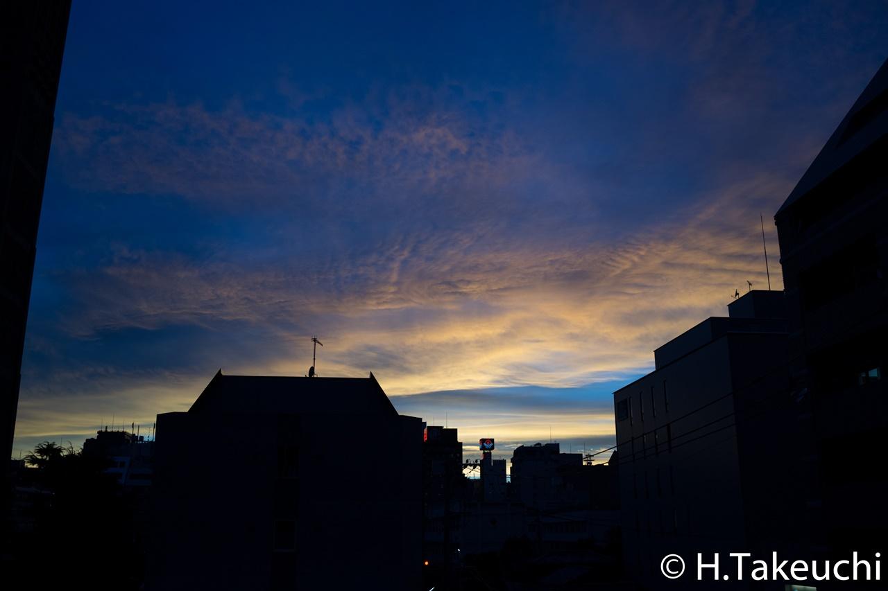 写真日記-夕焼け(2015年7月24日,DSC-RX1R)