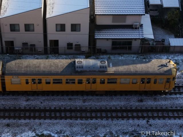 クハ115-2108 方向幕「試運転」 2016年01月20日撮影