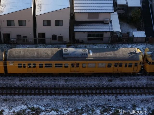 クハ115-1155 方向幕「試運転」 2016年01月20日撮影